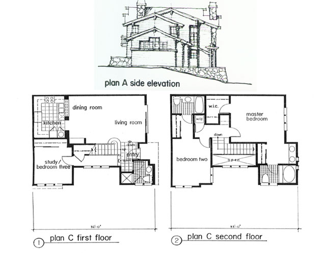 Unit Plan and Side Elevation
